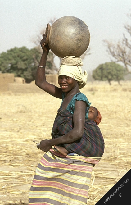 women water baby